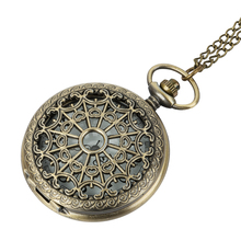 Vintage Bronze Spider Web Pocket Watch with Chain Necklace Pendant Steampunk Hour Antique Style Gift letter sneck lace цена
