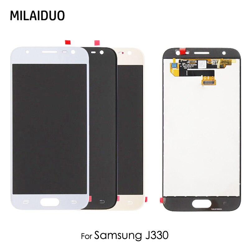 Original Super AMOLED / TFT LCD For Samsung Galaxy J3 2017 J330 J3308 J3300 J330F LCD Display Screen Touch Digitizer 5.5