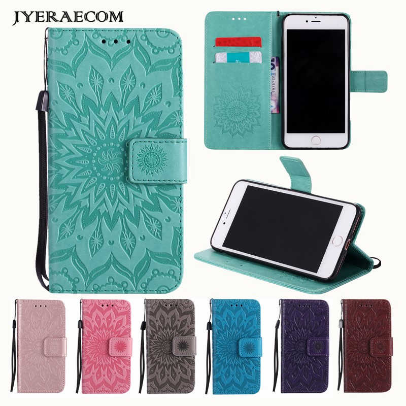 JYERAECOM PU Leather Flip Wallet Cover Case For Huawei Y3 2/Y3II-U22 Y5 2017 Y6 2018 Y9 2019 Honor 9 10 Lite V10 6A 5C 6X Case