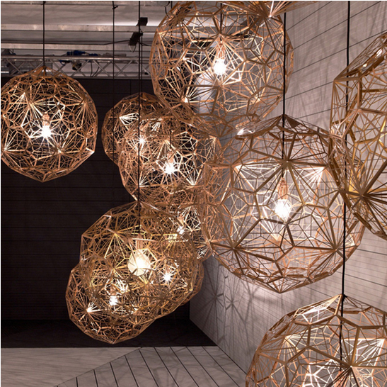 American Industrial Round Ball Droplight Silver Gold Copper European Pendant Lights Fixture Home Indoor Lighting Restaurant Lamp
