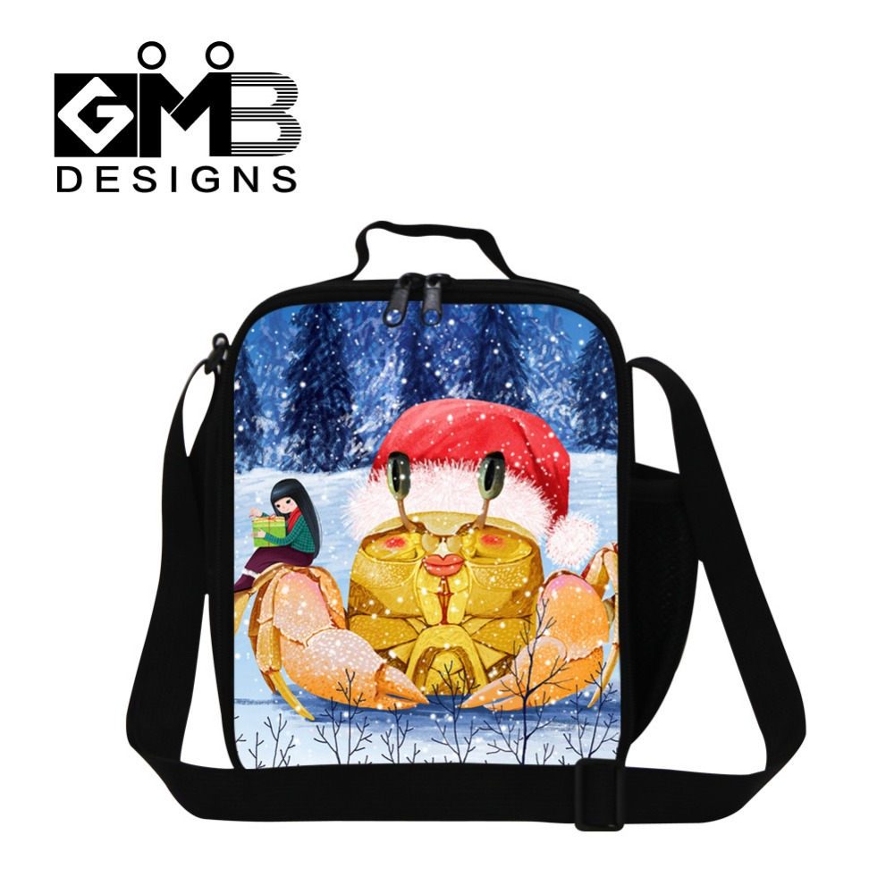US $17 99 |Pretty cartoon insulated lunch bag for teen girls,sea animal  work lunch bag for adult,child thermal lunch container for school-in Lunch
