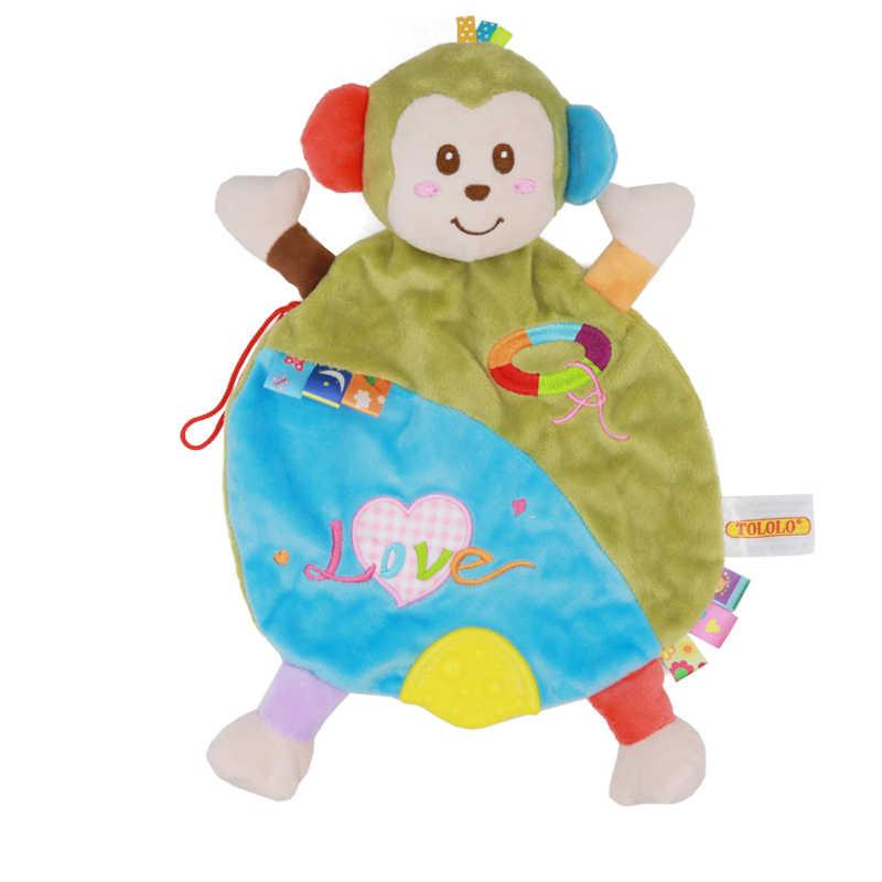 Детские игрушки-полотенце, милые Мультяшные Лев, обезьяна, слон, жираф, спокойная кукла, прорезыватель, развивающая детская игрушка