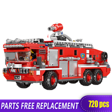 XINGBAO 03030 Fire Fighting Car 720 pcs Model Building Blocks Assembled Hero Boy Childrens Toys  Gift Compatible With LOGO