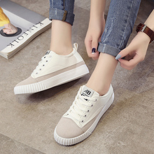 Women Student Platform White Casual Shoes Korean Female Summer All-match Shoes White Shoes  Student