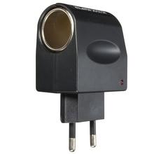 New Stylish EU US Plug 220V AC to 12V DC Car Cigarette Lighter Wall Power Socket EU Adapter Converter For Phone Tablets