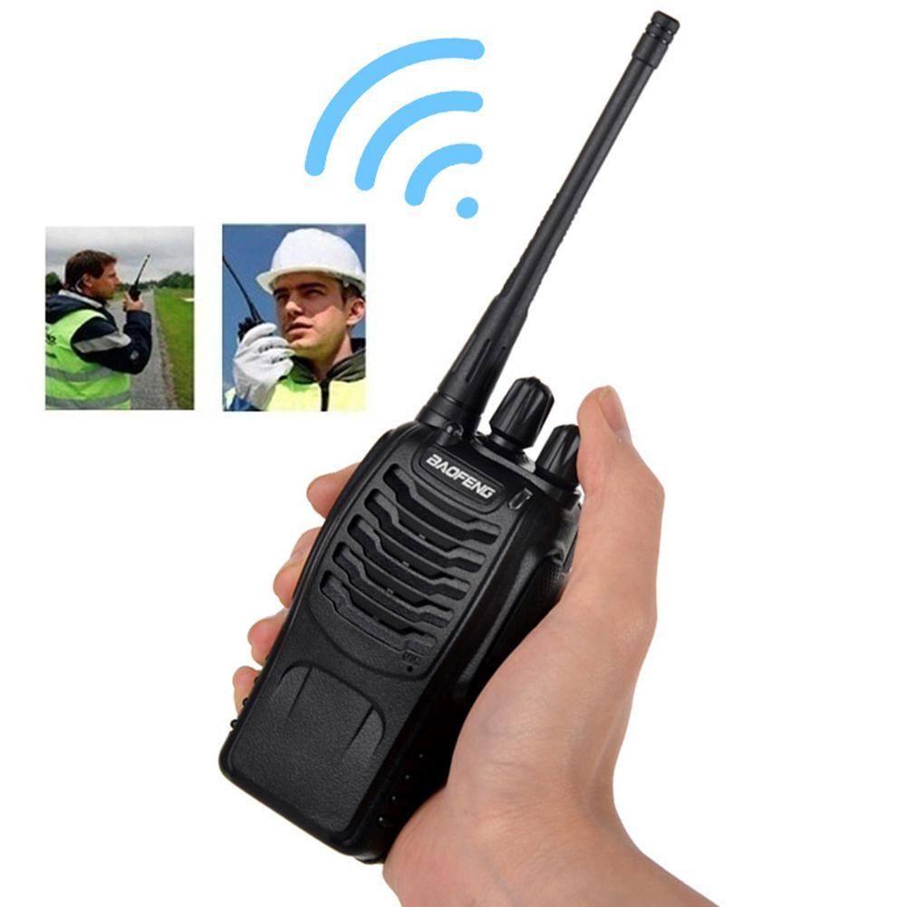 BF-888S 5km Range Wireless Walkie-talkie UHF Talkie Handheld Two-way Ham Radio Good Quality