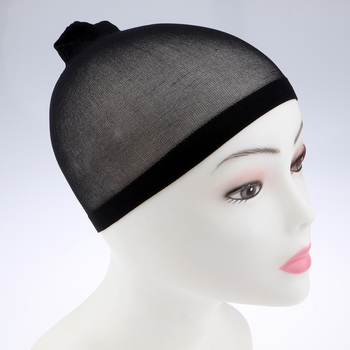 100Pcs Wholesale Breathable Black Spandex Dome Cap Mesh Hair Net for Making Wigs Snood Stretchy Wig Cap 5