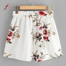 Feitong Nieuwe vrouwen shorts 2018 Vrouwen Print Casual Riem Losse Hot Lady Zomer shorts vrouwen Mode Temperament hoge taille shorts(China)