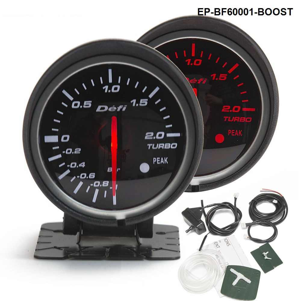 BF 60mm Boost Gauge High Quality Turbo Gauge with Red & White Light For Audi TT S3 A3 03-06 Seat Leon EP-BF60001-BOOST