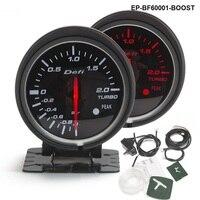BF 60mm wskaźnik wzmocnienia wysokiej jakości wskaźnik Turbo z czerwonym i białym światłem dla Audi TT S3 A3 03 06 Seat Leon EP BF60001 BOOST w Wskaźniki prędkości od Samochody i motocykle na