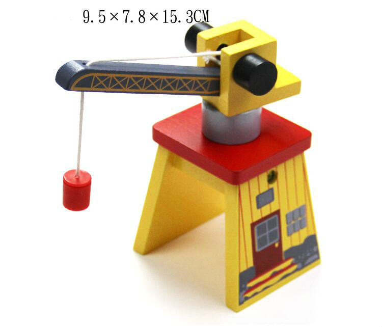 Image 4 - EDWONE ALL Kinds Of Crane Thomas Wooden Train Track Railway Accessories Move Crane House Tender Educational Slot DIY-in Diecasts & Toy Vehicles from Toys & Hobbies