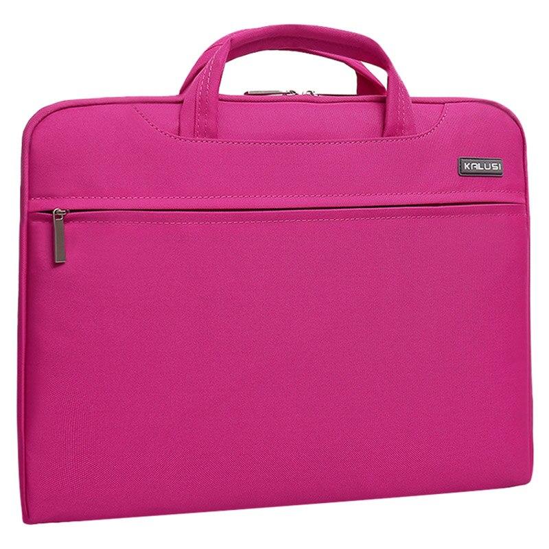 New waterproof arrival laptop bag case computer bag notebook cover bag 13 inch for Apple Lenovo Dell Computer bag(Rose Red)