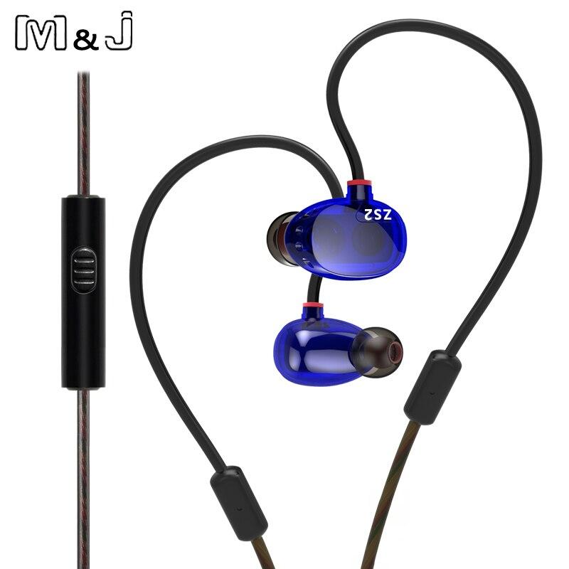 Kz zs2 dual monitores controlador dinámico auriculares con cancelación de ruido