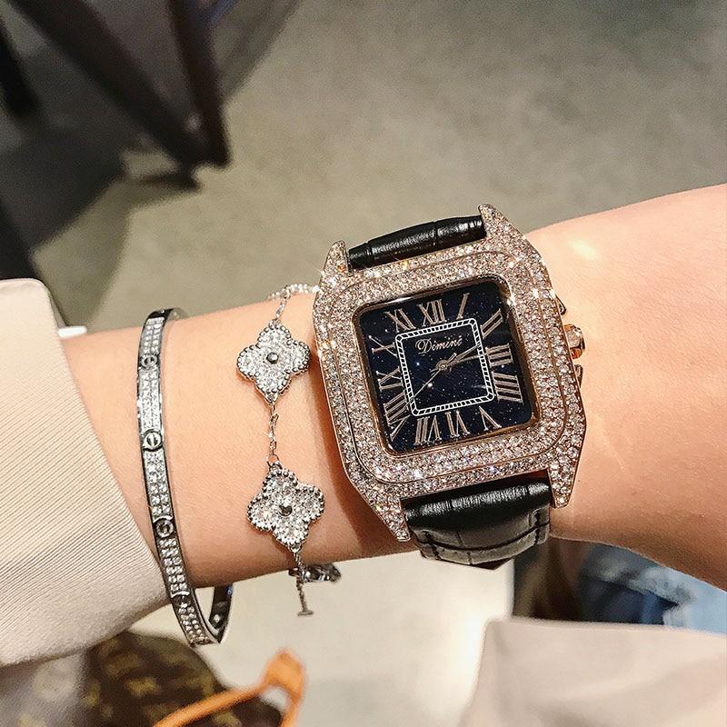Dimini Watches Women Luxury Brand Lady Crystal Fashion Woman Quartz Wrist Watches Women Female Steel Wristwatch