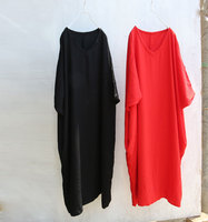 Mid Calf Retro Black Red Vintage Dress Roupas Feminia Silk Boho Vestidos De Festa Zomer Jurk