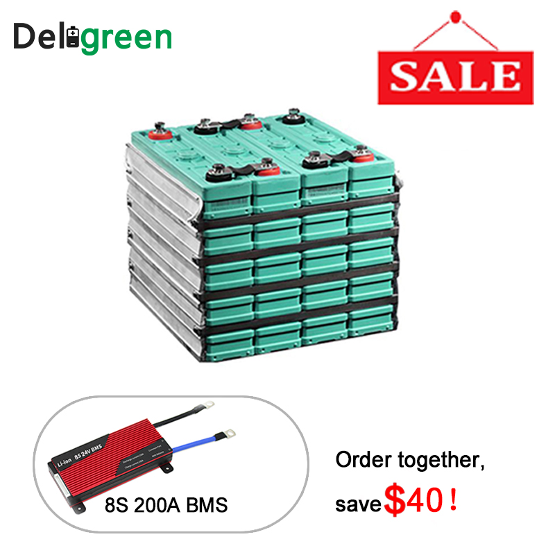 GBS 24V200ah Rechargeable LiFeMnPO4 Battery Pack With BMS 8S 200A for EV Car DIY Electirc Car Lithium Ion Battery LEP 200ah