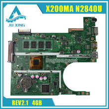 X200MA for ASUS latop motherboard Non-integrated N2830U REV2.1 X200MA 4GB Mainboard DDR3 90NB04U1-R00030 Tested OK