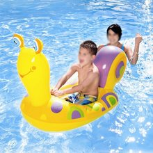 water toys inflatable  Inflatable Snail Boat Cute For Baby Play Water Outdoor Toy Riding Swim Ring Pool Toy Summer Ride-on цена