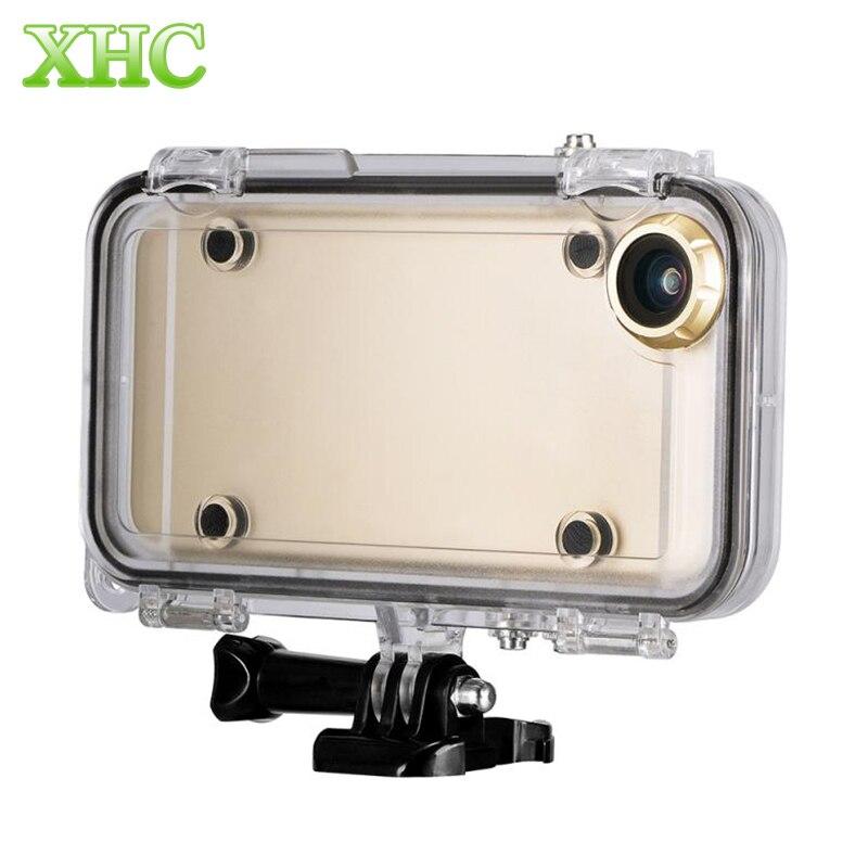 bilder für Extreme Sport Wasserdicht Fall mit 170 Grad Weitwinkelobjektiv für iPhone 6 6 s 5 s SE 6 Plus für GoPro Zubehör GoPro Adapter
