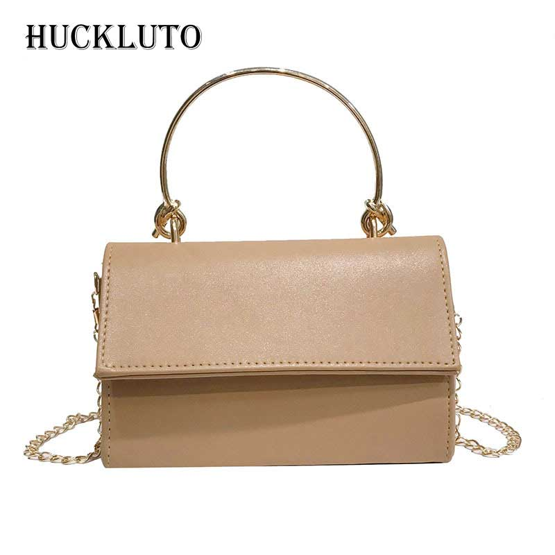 HuckLuto Brand 2019 New Promotion Sale Fashion Luxury Retro Chain Black Small Handbag PU Leather Womens Shoulder Messenger BagHuckLuto Brand 2019 New Promotion Sale Fashion Luxury Retro Chain Black Small Handbag PU Leather Womens Shoulder Messenger Bag