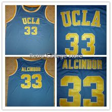 916430118 Cheap mens #33 Lew Alcindor UCLA Bruins basketball Jerseys Retro Throwback  Mens embroidery jerseys Customize any size numbe