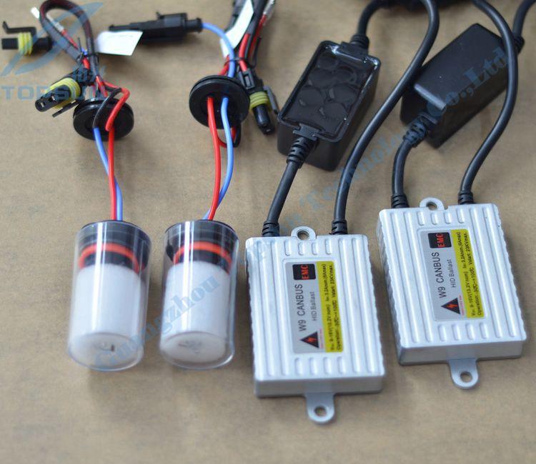 Car Headlight Kit 35W HID CANBUS Ballast W9 Cnlight Straight Bulb H16 4300k 6000k Free Shipping