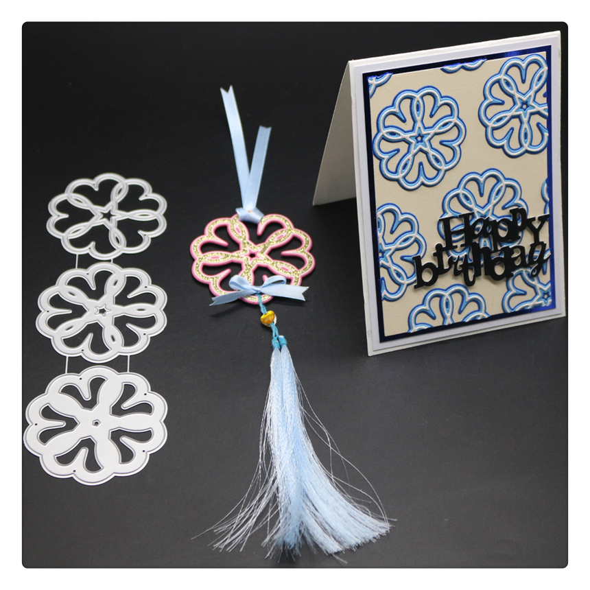 YINIS1697 FLOWER KNOT Scrapbook Metal Cutting Dies For Scrapbooking Stencils DIY Album Cards Decoration Embossing Folder Die Cut in Cutting Dies from Home Garden