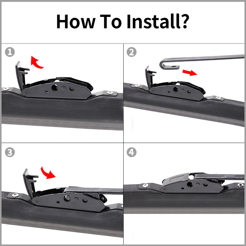 Image 4 - Winter Snow Wiper Blade U Hook Universal High Quality Natural Rubber Windshield Windscreen Auto Car Accessories 1 Pc-in Windscreen Wipers from Automobiles & Motorcycles