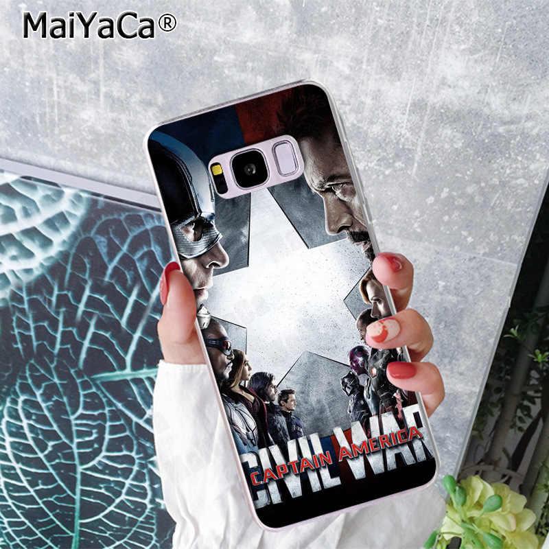 MaiYaCa كابيتان أمريكا لطيف جراب هاتف حالات الغلاف الخلفي لسامسونج S9 S9 زائد S5 S6 S6edge S6plus S7 S7edge S8 s8plus