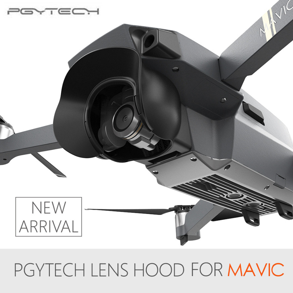 PGYTECH Lens Camera Protector Sun Shade Glare Shield Gimbal Shade Camera Mavic Pro Lens Hood Anti Flare for DJI Mavic Pro майка борцовка print bar glare of sun