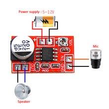 مكبر صوت ميكرو كهربائي 5 فولت 12 فولت تيار مستمر مكثف ميكروفون صغير مكبر صوت المجلس