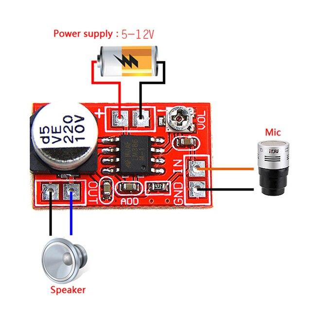 DC 5 V 12 V mikro elektret amplifikatör mikrofon kondenser Mini mikrofon amplifikatör kurulu