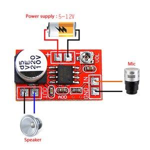 Image 1 - DC 5 V 12 V mikro wzmacniacz elektretowy mikrofon pojemnościowy mini mikrofon płyta wzmacniacza