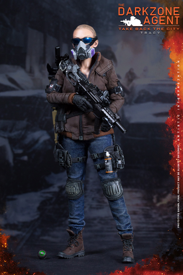 1/6 Scale DARKZONE AGENT TRACY Full Set Collectible Action Figures Gifts Toys 1 6 soldier action figure the dark zone agent renegad model accessories full set figures