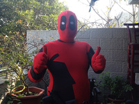 Halloween Cosplay marvel role playing spandex full body Deadpool Costume adult for party shows man male jumpsuit