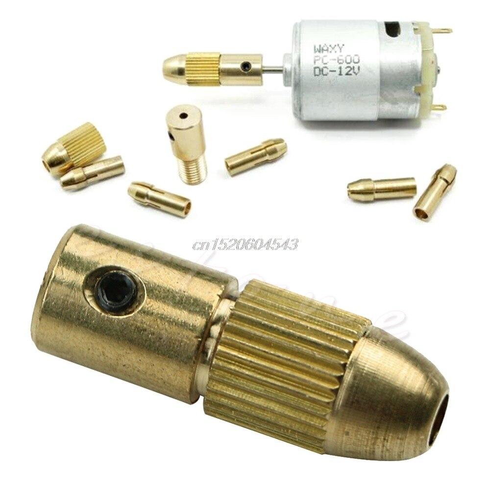 7Pcs Electric Drill Bit Collet 0.5-3mm Micro Twist Drill Chuck Set Tool New R06 Drop Ship wlxy wl diy001 copper twist drill bit collet set golden yellow
