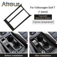 Atreus Carbon Fiber Water Cup Panel Trim Stickers For Volkswagen Golf GTI VW Golf 7 MK7