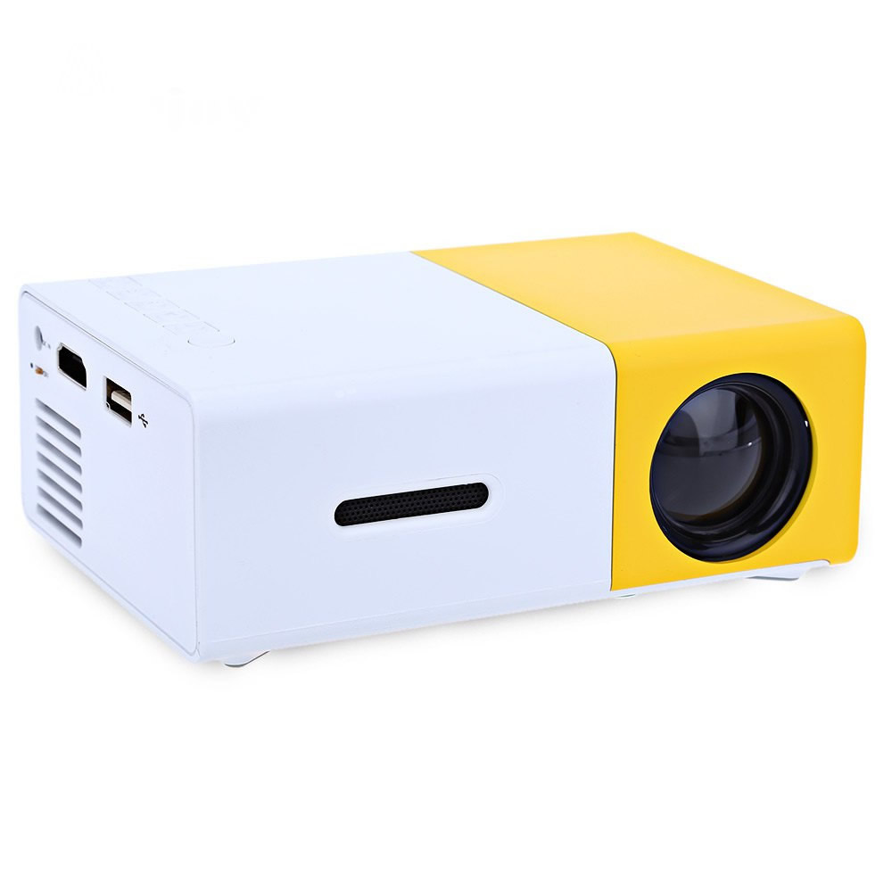 Yg300 led portable projector 400 600 lm audio 320 x for Mini portable pocket projector