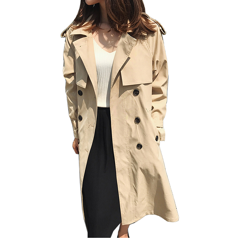 Ceinture Mode Tranchée Manteau Kaki kaki Casual Dame Automne Mujer Vêtements Survêtement La Avec Des Printemps Gabardina Amples Long Femmes Noir camel Pour BnRFqacc5