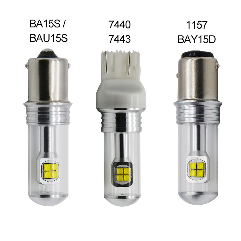 2X T20 7440 7443 1156 Ba15s Bau15s 1157 BAY15D Cree Chip LED Front Tail Turn Signal Brake Reverse Light DRL Bulb White Red Amber pair canbus 1156 ba15s p21w t20 7440 p13w t15 w21w 80w w philips chips backup reverse light front drl daytime running lamp