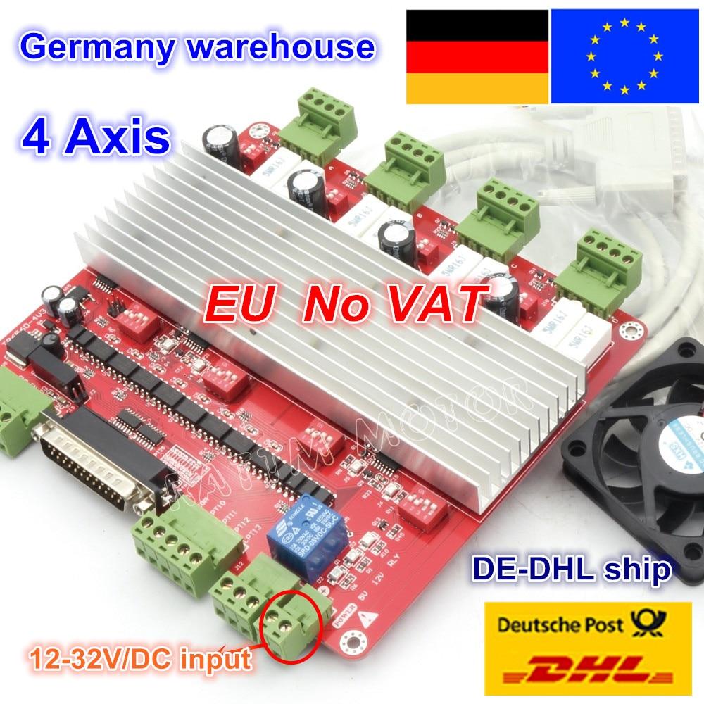 DE free ship free VAT 4 axis CNC TB6560 stepper motor driver CNC controller board V
