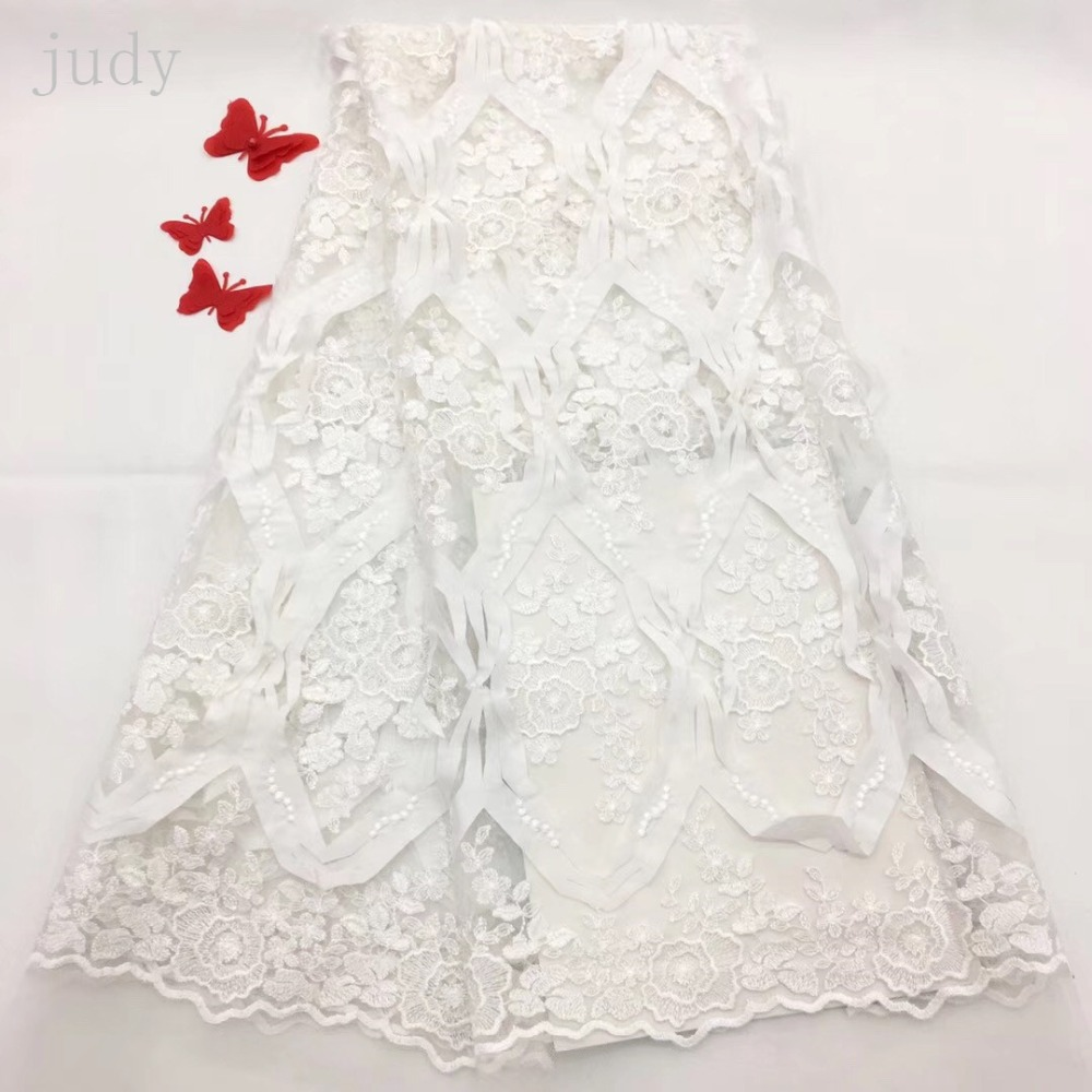 RFJJ250# Embroidered mesh laser fabric African French fabric for wedding dress clothing free delivery