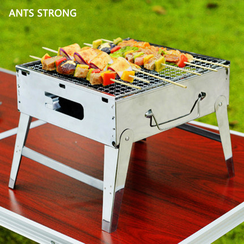 Ants Strong Household Bbq Small Charcoal Grill Outdoor Portable Fold Grills Barbecue Stove Supplies