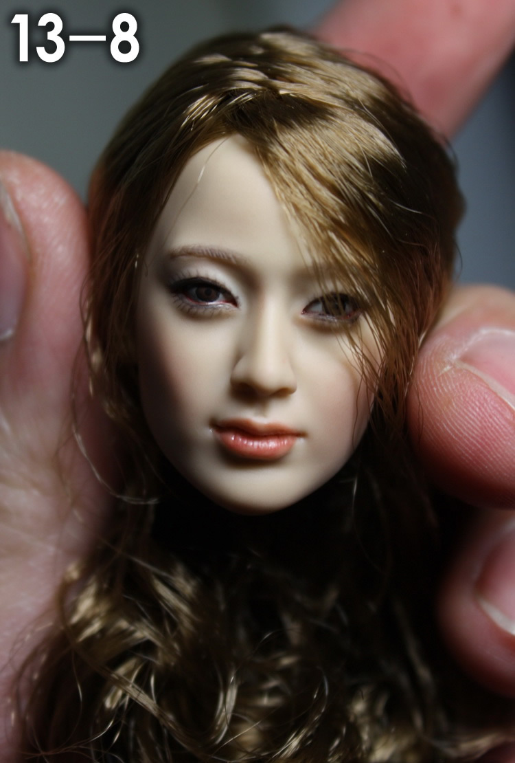1/6 scale female head shape for 12 action figure doll accessories doll head carved not include the body,clothes and other13-8 1 6 figure doll head shape for 12 action figure doll accessories game of death bruce lee head carved not include body clothes