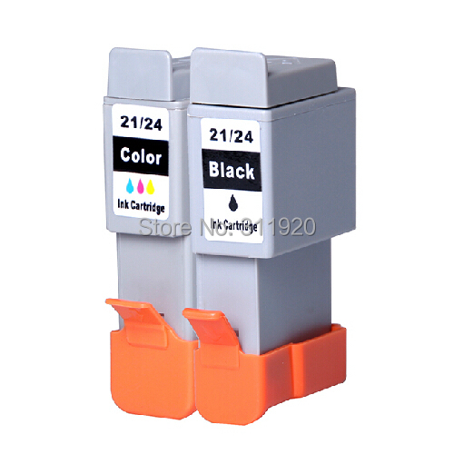 2Pk BCI 21 24 Ink Cartridge for Canon BCI 21 BCI 24 Cartridge for Canon I250