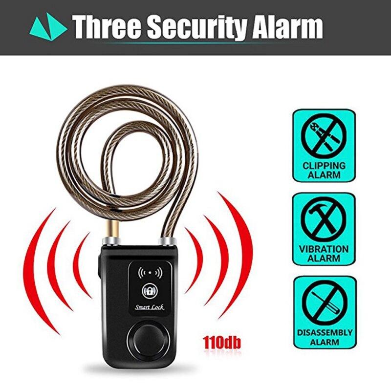 Bicycle smart lock For Bluetooth Smart Lock APP Control Auto Alarm Anti-thief Security Door Lock For IOS For AndroidBicycle smart lock For Bluetooth Smart Lock APP Control Auto Alarm Anti-thief Security Door Lock For IOS For Android