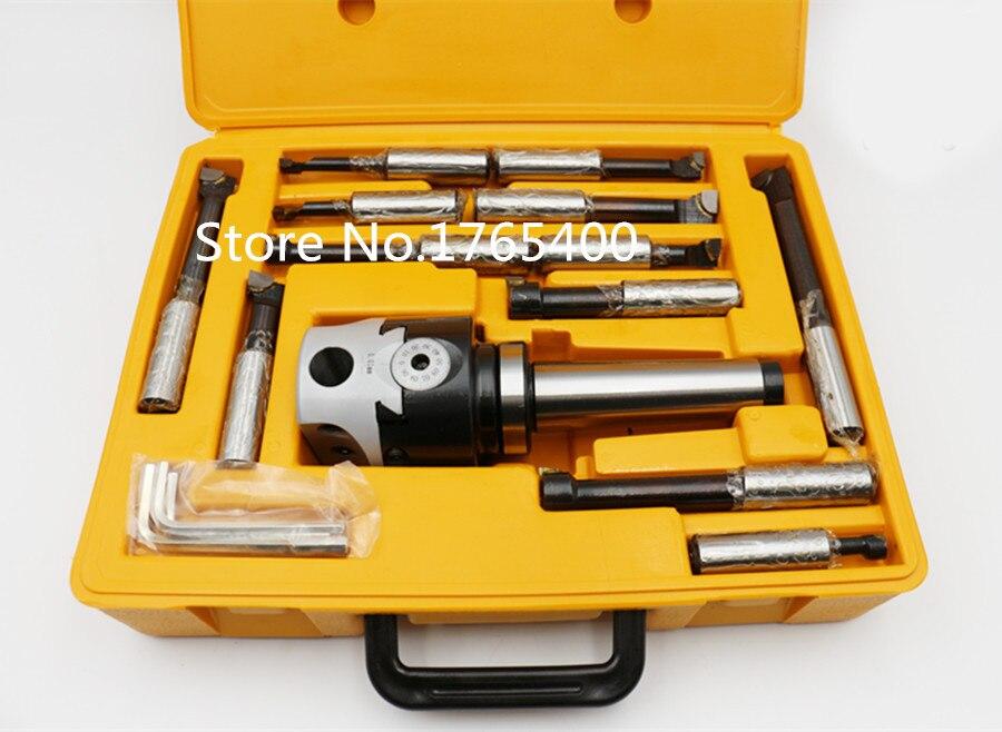 MT3 M12 Tonnelle F1-12 50mm tête de perçage et 9 pcs 12mm barres d'alésage, tête d'alésage ensemble