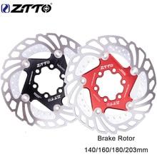 ZTTO 1 шт. MTB DH велосипедный дисковый тормоз охлаждающий плавающий ротор 203 мм 180 мм 160 мм 140 мм 6 болтов ротор steelFor горный велосипед RT99 RT86