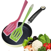 Shovel Turner Spatula Frying-Pan Slotted Nonstick Silicone Flexible