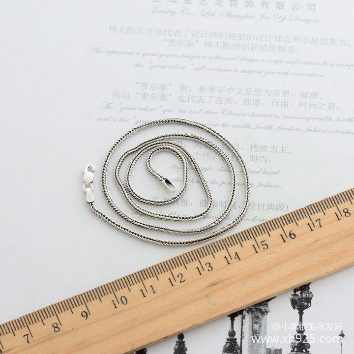 925 Sterling Silber Halskette weibliche dicke 1,6 mm - Edlen Schmuck - Foto 5